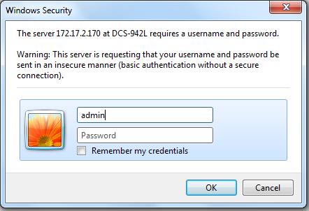 Default Password, Username and IP Address