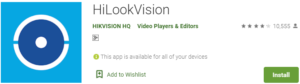 HiLookVision App for PC